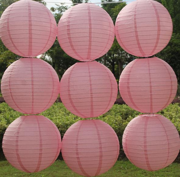 Dark Pink Color Style Chinese Paper Lanterns 6-8-10-12-14-16 Inch for Wedding Event Party Decoration Holiday Supplies Paper Ball(China (Mainland))
