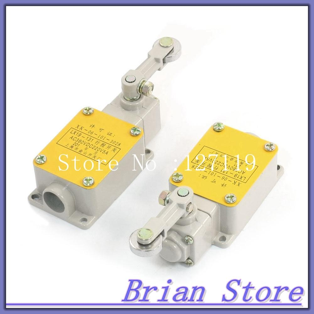 2pcs LX19-131 Momentary Action Rotary Roller Arm Limit Switch AC380V DC220V 5A<br><br>Aliexpress