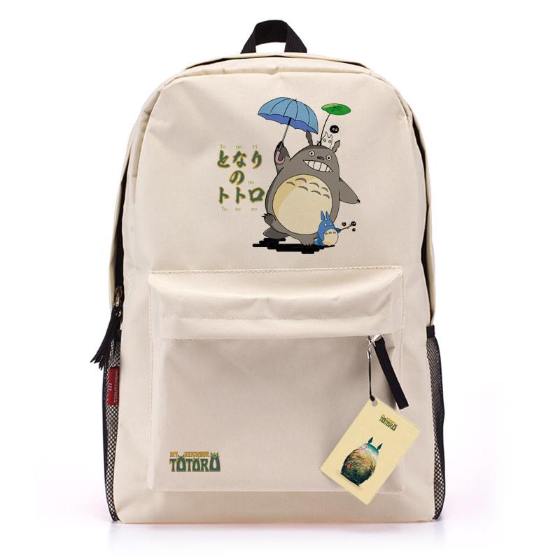 Retail 1pcs Anime Hayao Miyazaki Ttoro totoro Backpack Student School Bag Double Shoulder BPA006(China (Mainland))