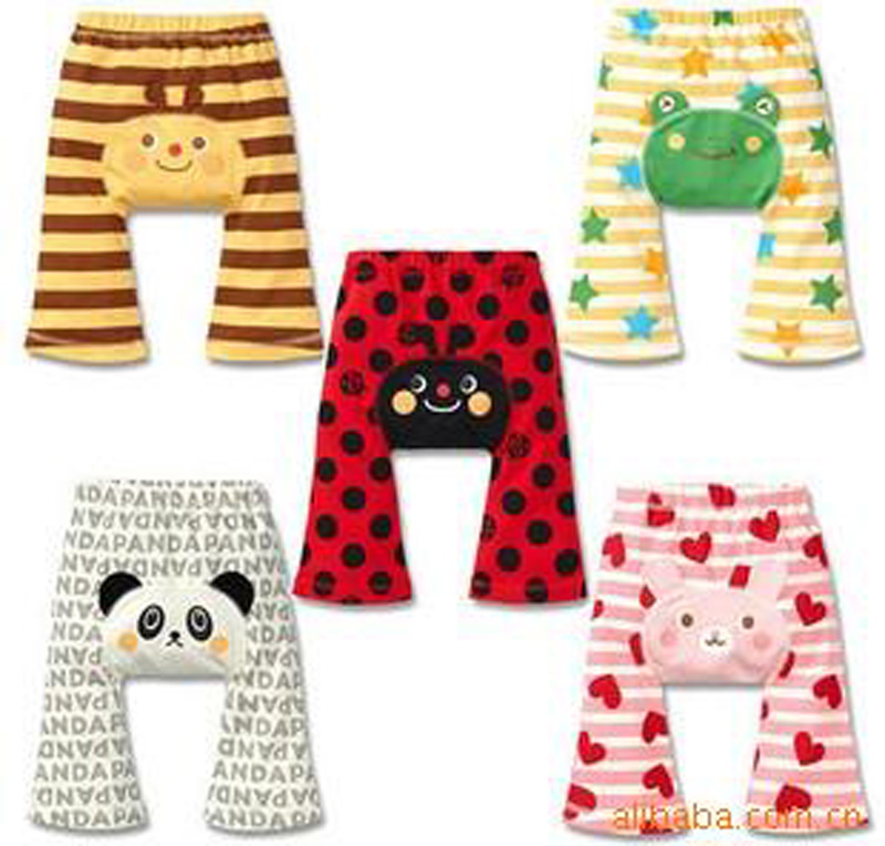 2016 PP pants Cute Boy Girl Baby Summer cartoon Panda pattern Casual Pants High Waist Baby PP Pants Leggings Children's Clothes(China (Mainland))