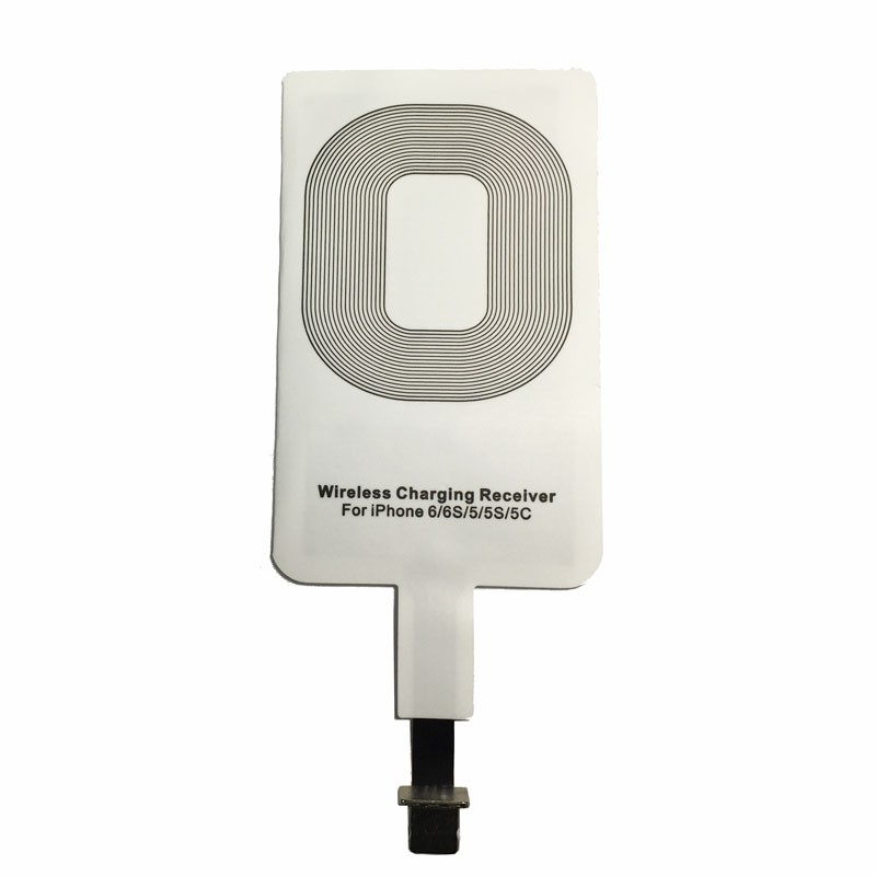 1 PC Qi Wireless Charger Receiver Charging Adapter Receptor Receiver Pad Coil For Iphone 6/6S/5/5S/5C(China (Mainland))
