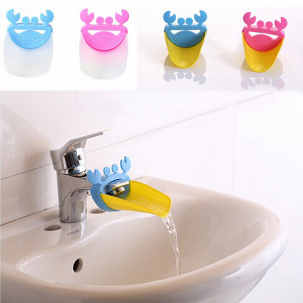 Hotsale Kid Toddler Baby Faucet Extender Washing Hands Bathroom Sink Lovely Crab(China (Mainland))