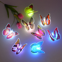 1pc 7 Color Changing Cute Butterfly LED lamp Night Light Home Room Desk Wall Decor LY453(China (Mainland))
