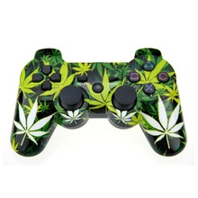 Leaf Style For PS3 Controller Bluetooth Double Vibration Joystick Joypad Gamepad For Playstation 3 PS3 Gamepad