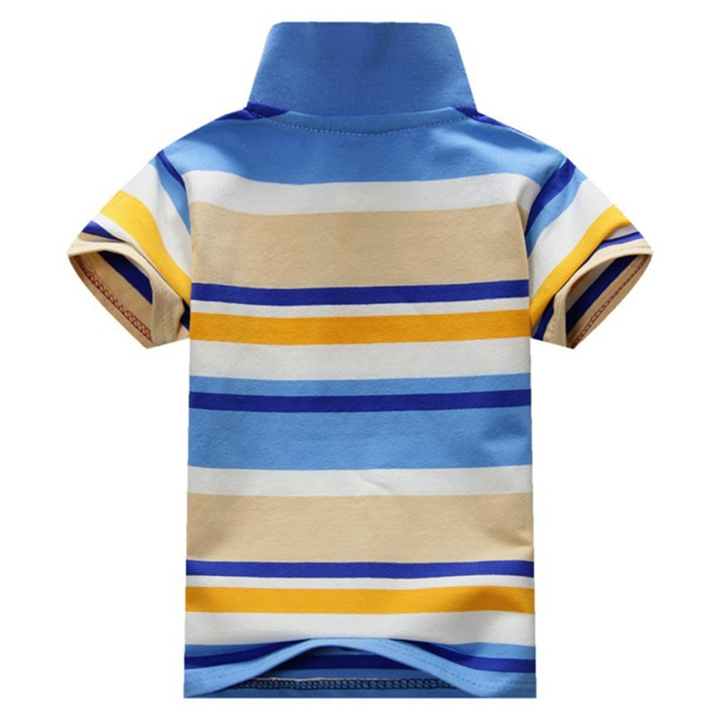 Summer Baby Boys Short Sleeve T Shirt Kids Tops Striped Polo Shirt Tops Hot Sale New