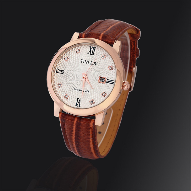 2015 new 6color optional leather quartz watches