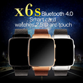 New Watch X6S Smart Watch HRM Real Heart rate Bluetooth Genuine Leather Strap Smartwatch For Android