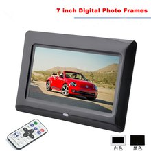 7 Inch TFT-LCD Digital Photo Frame with Slideshow Alarm Clock MP3 MP4 Movie Player with Remote Desktop Picture Frame