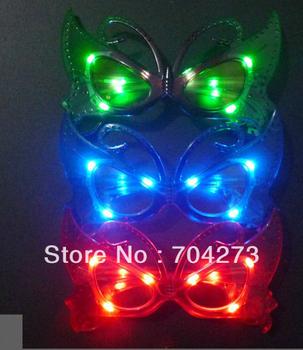 free shiping+ led butterfly glasses/ led glasses/ LED mask glasses/ flashy mask