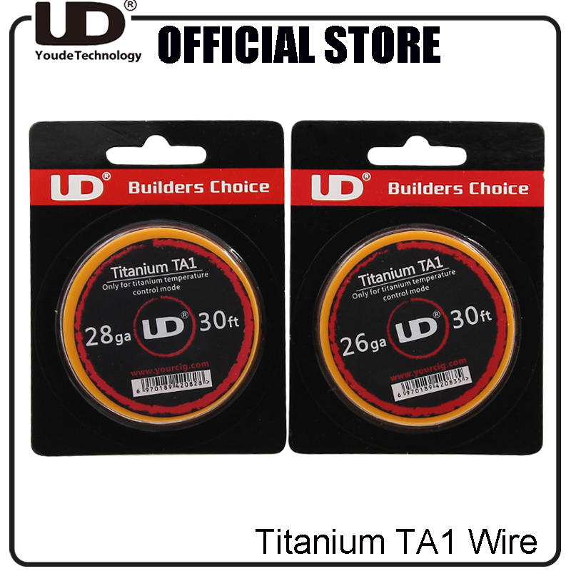100% Genuine Youde Titanium TA1 Wire 28ga 26ga 30ft 10m/roll only for Titanium temperature control mode UD Ti Wire(China (Mainland))