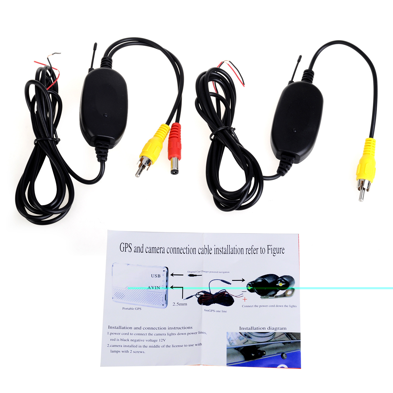 Беспроводной приемник передатчик адаптер для автомобильный DVD камера беспроводной RCA видео бесплатная доставка