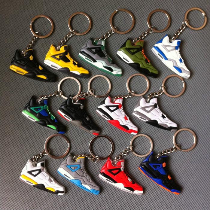 Jordan 4 Shoe Key Chain Jordan Retro Sneaker Keychains Lebron Kobe Yeezy Keychain Jordan Keychains 13 colors
