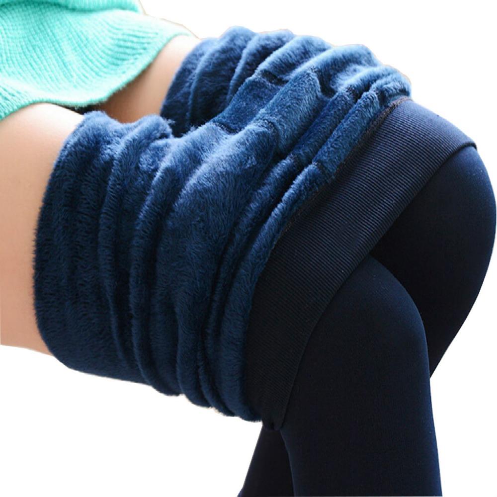 Mollad 2016 NEW plus cashmere leggings women girls Casual Warm Winter Bright Velvet Knitted Thick Slim Legging Super Elastic(China (Mainland))