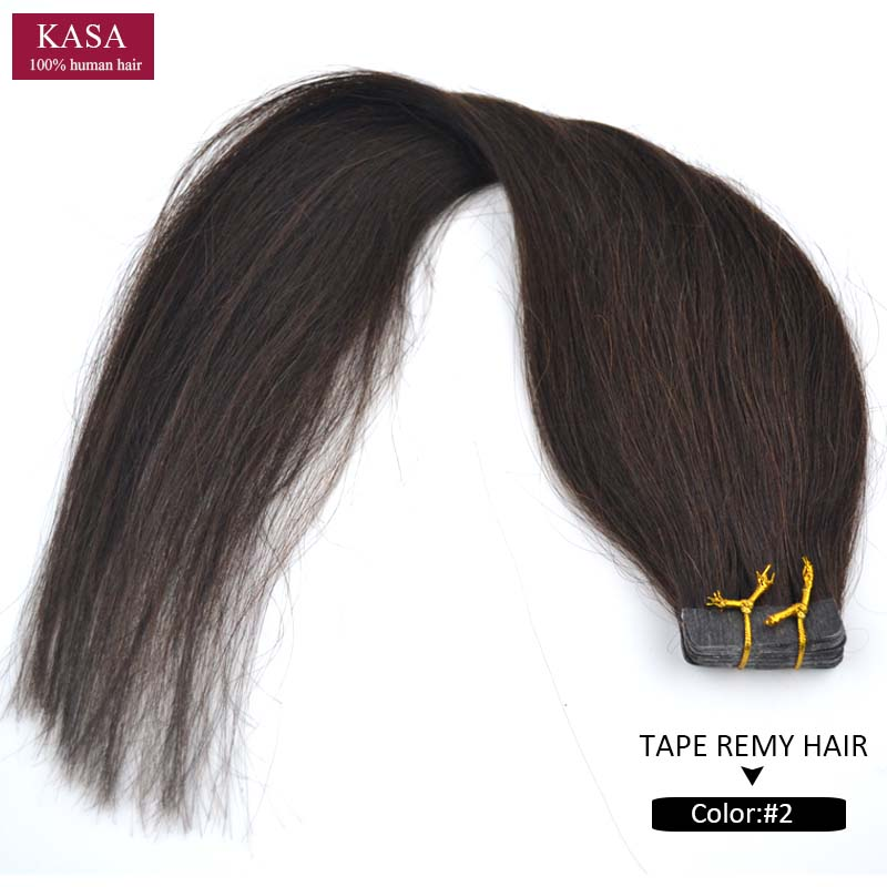 """Tape Skin Weft Hair Extensions Straight 22"""" 55cm 60g 20pieces/LOT PU Real Human Natural Remy Hair Woman's Fashion Hairpiece"""