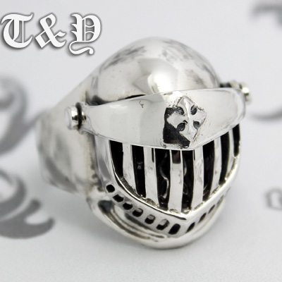 T &amp; y silver pure silver 925 ring helmet thai silver armor male ring skull<br><br>Aliexpress
