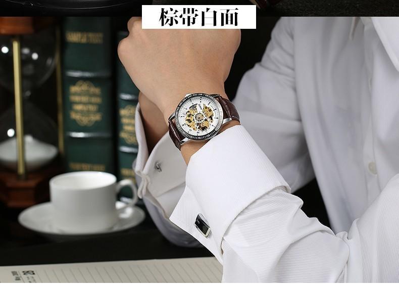 NARY 2016 Бренд Люксовый Бренд Спорт мужская Автоматическая Каркасного Механически Военные Наручные часы Мужчины полный Сталь Нержавеющая Группа