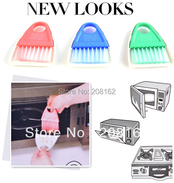 Microwave Cleaning Broom Dustpan Multi-purpose Oven Brush With Magnets Fridge Magnet (mix order 10 usd)(China (Mainland))