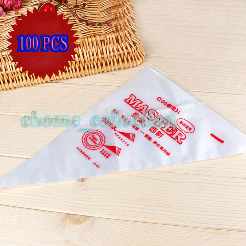 High Quality 100pcs Small Size Fondant Cake Icing Cream Decorating Bags Decorate Tool Disposable Piping Pastry Bag(China (Mainland))