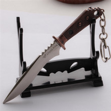 4.7'' Cross Fire MINIATURE Bayonet Knife Dagger Keys Ring Chain CF Weapon Model Keychain Gift - VEIA Discount Store store