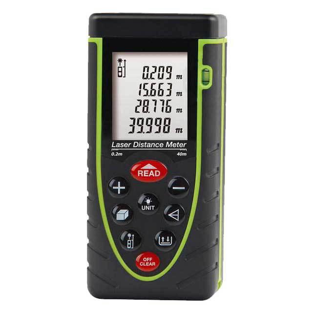 40m (131ft) Laser distance meter bubble level Rangefinder Range finder Tape measure tester