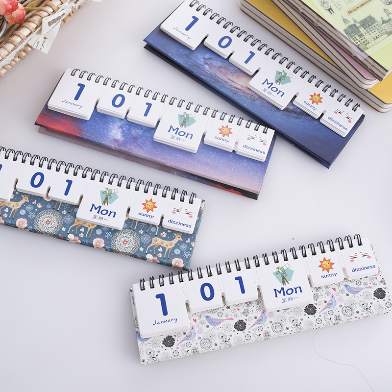 Diy Calendar For School : Custom printing mini print perpetual desk diy office cute