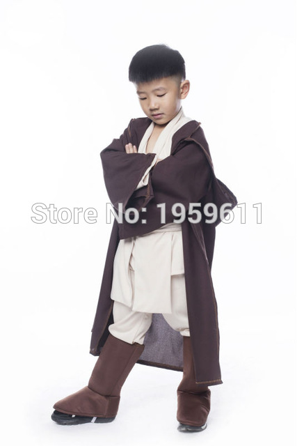 Itsameal STAR WARS Robe Jedi/Sith Cosplay Children Hooded Cape Cloak Classic Halloween Costumes Two Colors For Unisex Kids(China (Mainland))