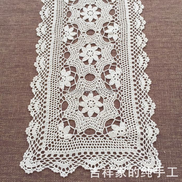 Crochet Table Runner : ... -crochet-lace-table-runner-for-home-decor-TV-table-runner-towel.jpg