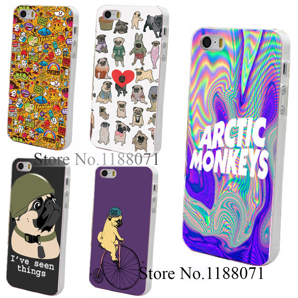 Hard Clear Skin Back Case Cover for iPhone 4 4s 4g 5 5s 5g Psychedelic Arctic Monkeys Logo Style(China (Mainland))
