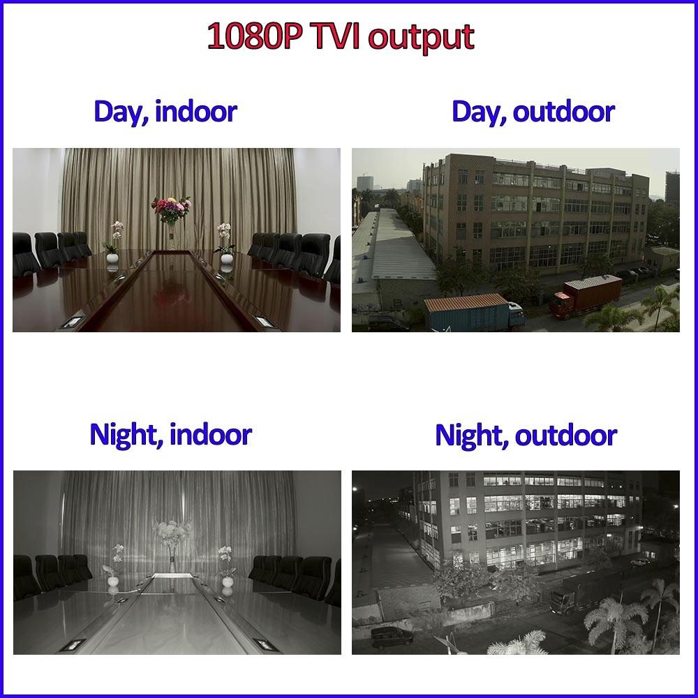 imx323 imx290 Sensor 1080P AHD HDCVI HDTVI 4in1 surveillance camera 2MP Color Night Vision outdoor security camera, free bracket