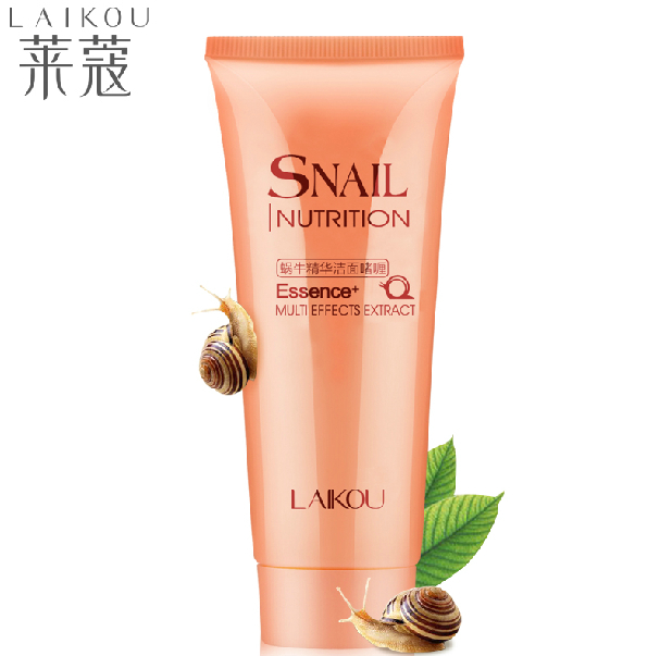 LAIKOU 100g Snail Facial Cleanser Exfoliating Gel Moisturizing Whitening Deep Clean The Skin Care Snail Face cleansing Gel(China (Mainland))