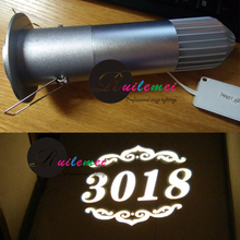 Free Shipping New Fashion Indoor Hotal Restaurant Room Number Logo Gobo Slide Projector Light TE10(China (Mainland))