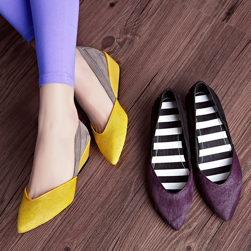 Genuine leather Women wedges High heels on Platform shoes Size(34-39) Horsehair yellow color Fashion sapato alto Free shipping<br><br>Aliexpress