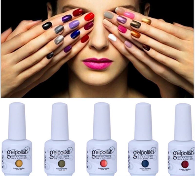 iLuve 35%OFF 4 Bottles Long Lasting Soak Off UV Gel Nail Polish Any 1*15ml Professional Quality in 238 Bling Shiny Color(China (Mainland))