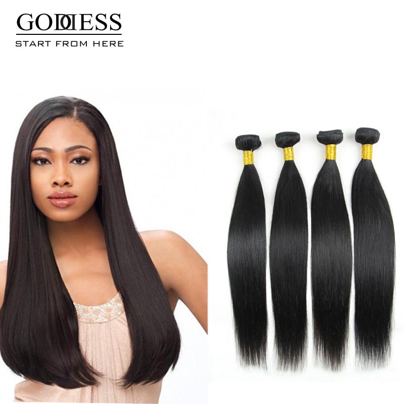 Гаджет  Unprocessed 6A brazilian virgin hair straight hair 100% human hair brazilian hair weave bundles hair extension  None Волосы и аксессуары
