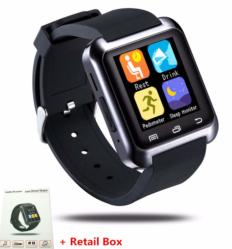 Original U80 Smartwatch For iPhone Samsung For Sony LG Android Phone BT-notification Anti-Lost MTK Smart Bluetooth Wrist Watch(China (Mainland))