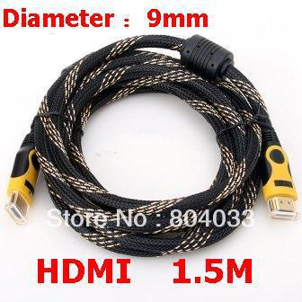1.5M 5FT HDMI High Quality 19+1 x2 Core Male Gold Plated 1080P HDTV HD Cable for Samsung for PS4 for Toshiba for Sony Smart TV(China (Mainland))