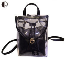 New Candy Color Backpacks Waterproof PVC Composite School Bags Clear Spacer Backpack HOLOGRAPHIC Gammaray Hologram Iridescent(China (Mainland))