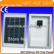5W 18V Poly Crystalline PV Solar Module with Aluminum Alloy Frame, Nice Appearance, Fend Against Snowstorm, Install Conveniently(China (Mainland))