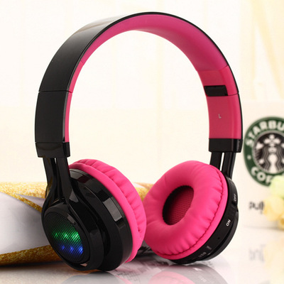 KIDA AB005 Bluetooth stereo headset and a wired headset integrated wireless card Bluetooth FM call rhythm LED lights, etc.(China (Mainland))