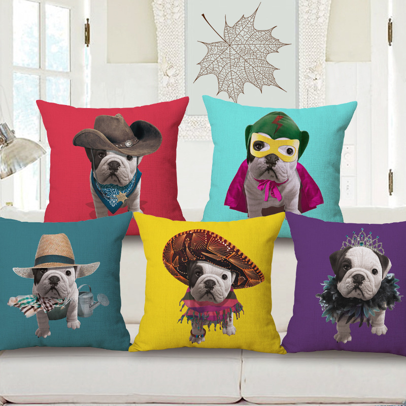 Free shipping throw pillow wedding decor linen fabric gift Hot sale 100% new 45cm Pirate Captain skull sofa cotton cushion cover