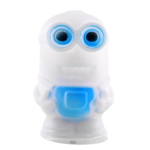 New Lovely Color Changing Colorful Night Light Lamp Toy Despicable Me 2 Minions Toy Gift Colorful Night(China (Mainland))