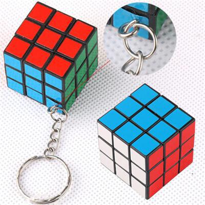 1CPS Hot Selling New Cube Professional Classic Toy Mini Magic Cube Convenient 3x3x3cm Colorful Plastic Magic Cube(China (Mainland))