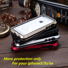 Original 5s se Metal Aluminum frame Outdoor GUNDAM Shockproof Silicon TPU Cover Case for iPhone 5 5s se cases