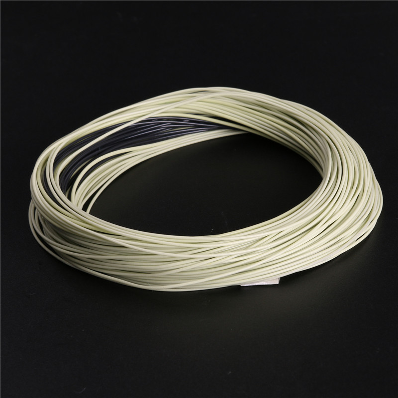 Fly Fishing Line Double Color Weight Forward Floating 100FT Fly Line With Sinking Tip Floating Fly Line(China (Mainland))
