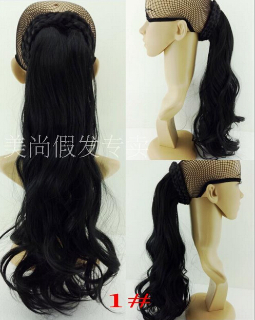 wavy curl hair chignon, synthetic hair ponytail, Hair bun, integrated chignon ponytail 1pcs Free shipping<br><br>Aliexpress