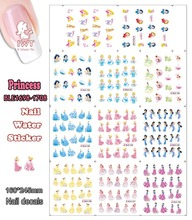 Beauty Nail (Large Piece BLE1852-1862 11 DESIGNS IN 1) Disni Snow Princess Nail Art Water Sticker for Nail Art Decoration