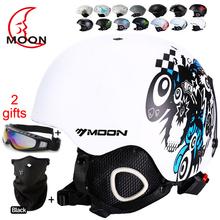 MOON Skateboard Ski Snowboard Integrally-molded Ultralight Breathable Ski Helmet CE Certification