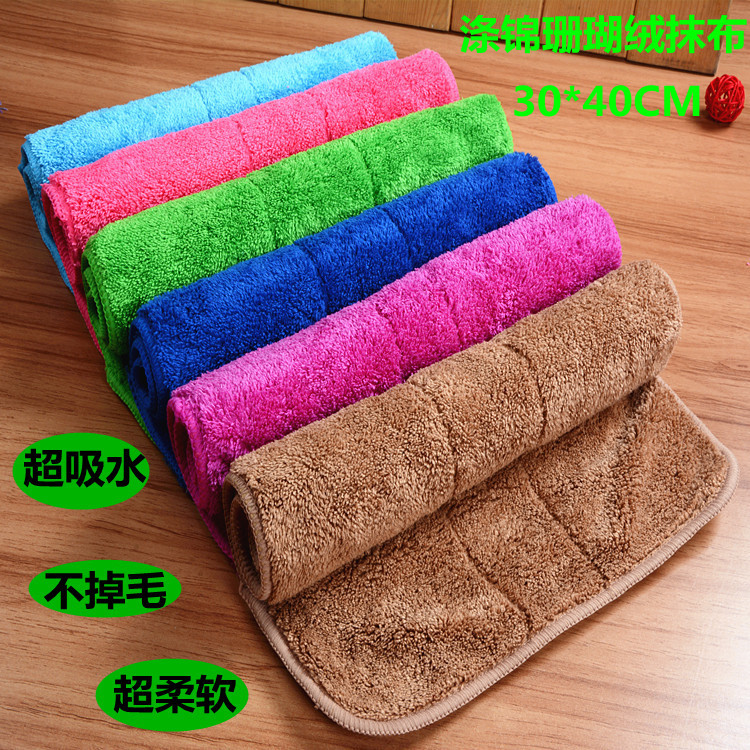 High Efficient Anti-grease Dish Cloth Microfiber Washing Towel Magic Kitchen Cleaning Wiping Rags double layer 30*40 micro fiber(China (Mainland))