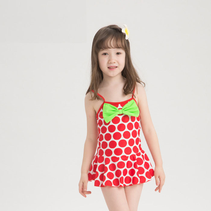 High Quality Swimsuit for Girls 2 Pieces Girls Polka Dot ...