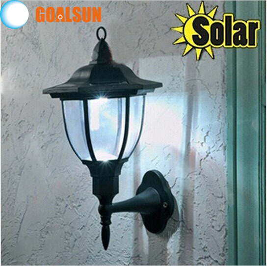 2015 New, Oudoor 4 LED Solar wall light lamp 100 % solar power Palace design solar garden light(China (Mainland))